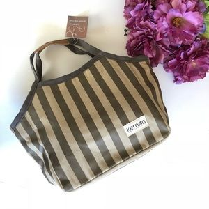 Kemon striped tote bag